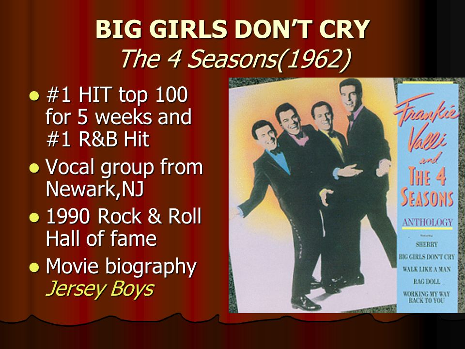 BIG GIRLS DON'T CRY The 4 Seasons(1962)