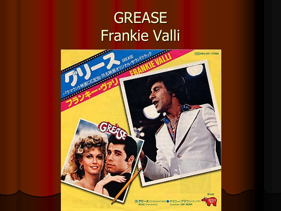 GREASE Frankie Valli