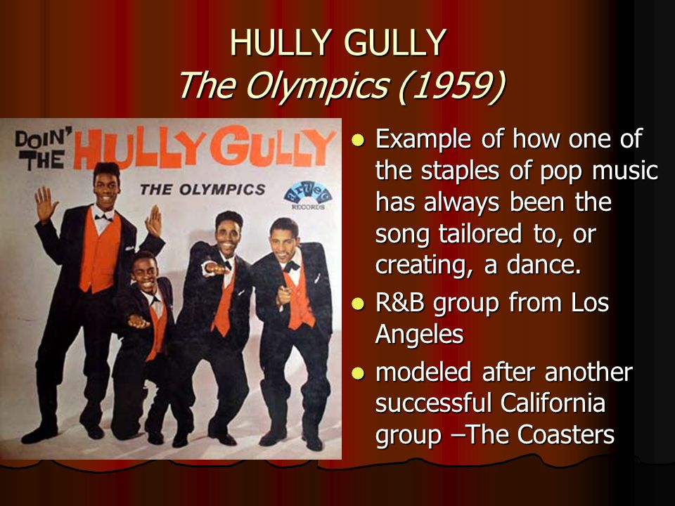 HULLY GULLY The Olympics (1959)