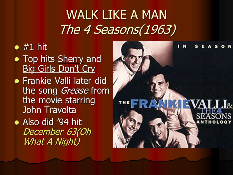 WALK LIKE A MAN The 4 Seasons(1963)