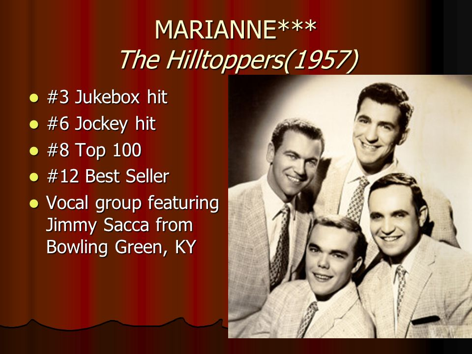 MARIANNE*** The Hilltoppers(1957)