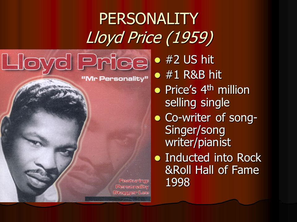 PERSONALITY Lloyd Price (1959)
