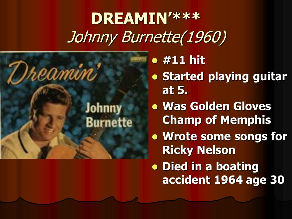DREAMIN'*** Johnny Burnette(1960)