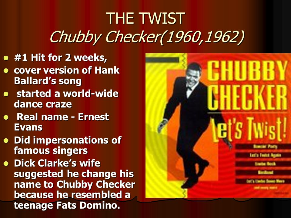 THE TWIST Chubby Checker(1960,1962)