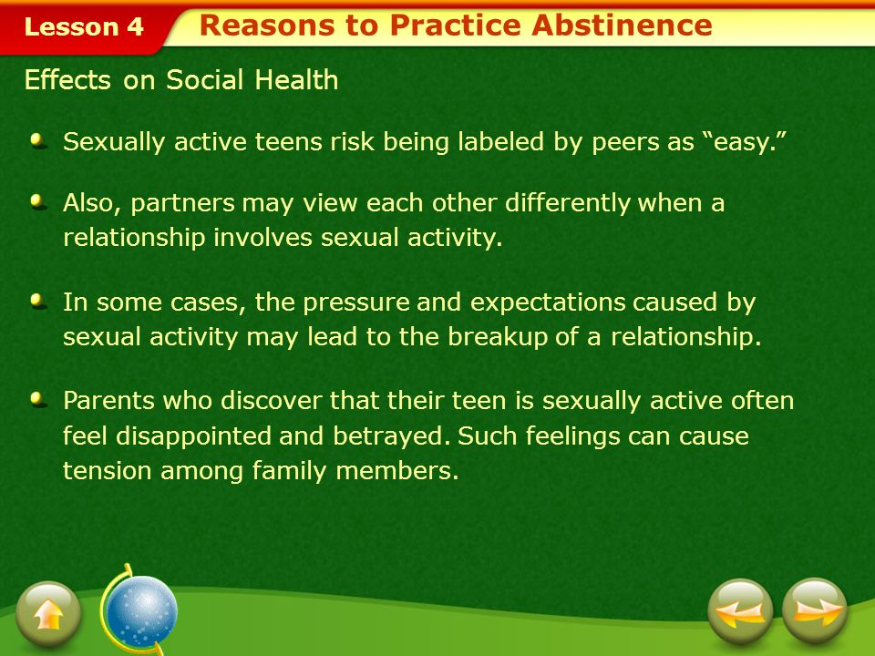 reasons to support teen abstinence