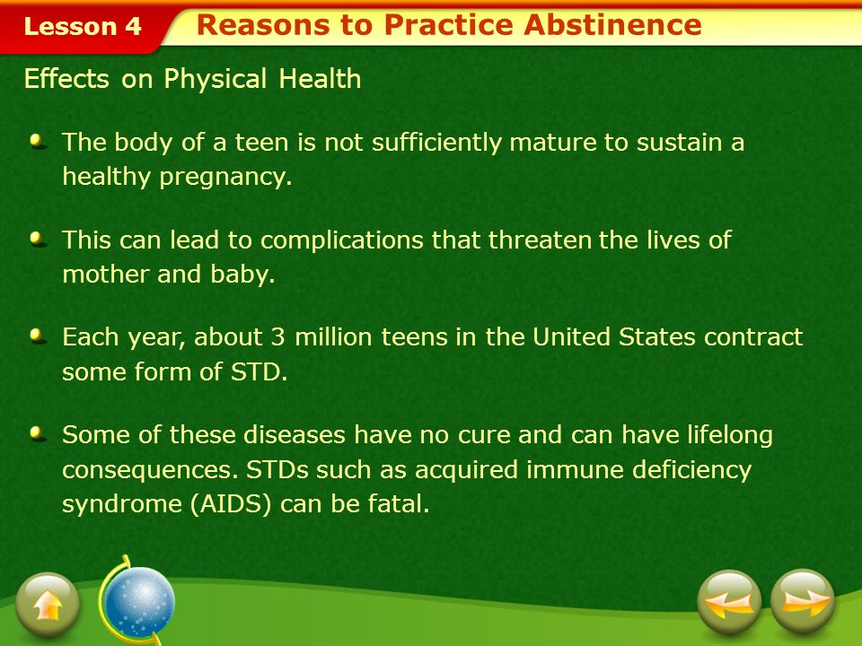 teen pregnancies stds and their consequences The united states' rise in std diagnoses isn't a sign of moral  teen pregnancy  and sexually transmitted infections—was increased to $85 million per year   sti are consequences of far more than individual behaviors, and.
