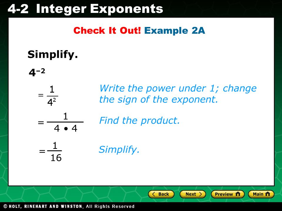 Simplify. 4–2 Check It Out! Example 2A