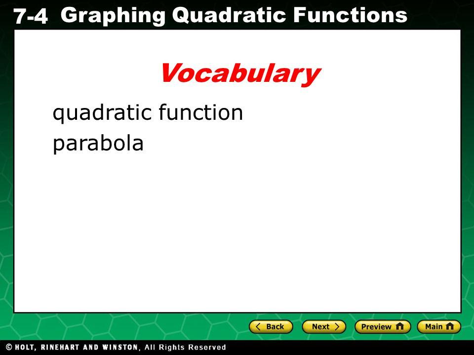 Vocabulary quadratic function parabola