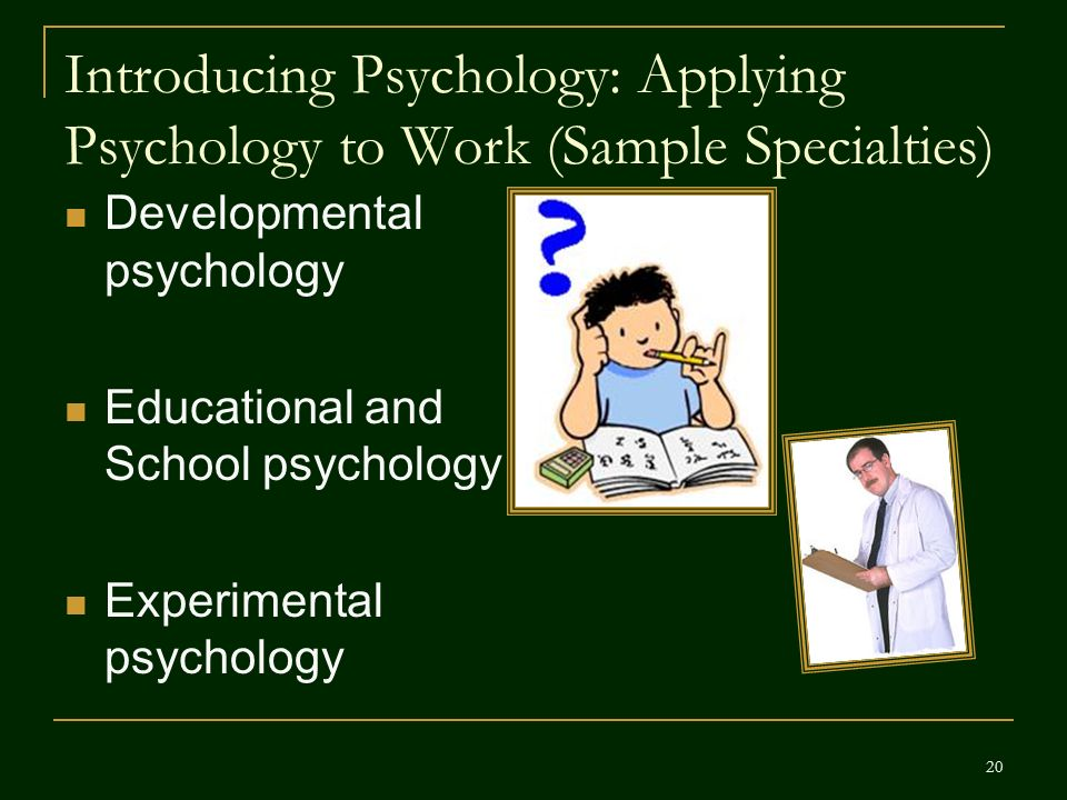 psychology perspectives and specialties Introduction to health psychology 1 1 psychology was a specialty within health represents the guiding perspective used in health psychology courses and.