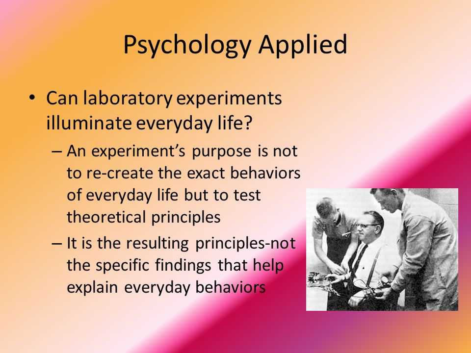 applied psychology in everyday life Volume 1, no 2, art 8 – june 2000 figurations in everyday life—a research  program of cultural psychology herbert fitzek abstract: with the term.