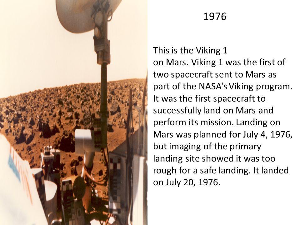 Resultado de imagen para 25 july mars 1976