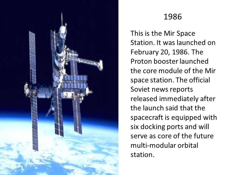 ussr launches mir space station - photo #13