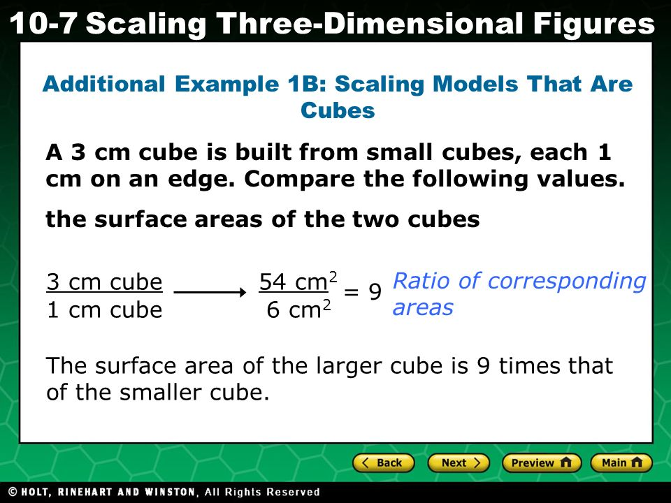 Additional Example 1B: Scaling Models That Are Cubes