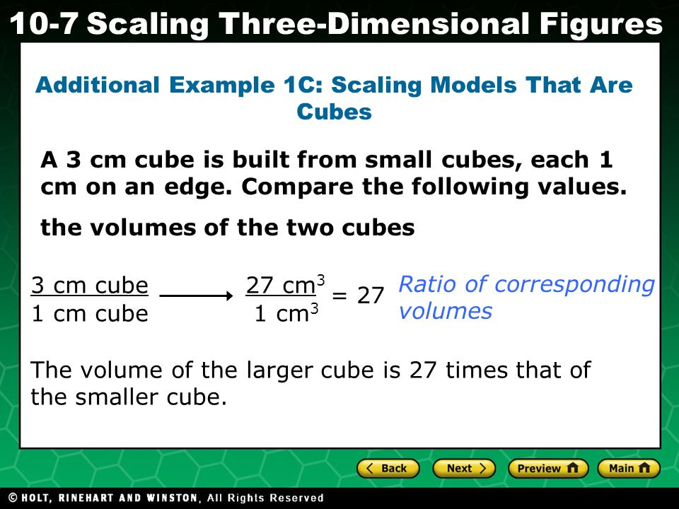 Additional Example 1C: Scaling Models That Are Cubes