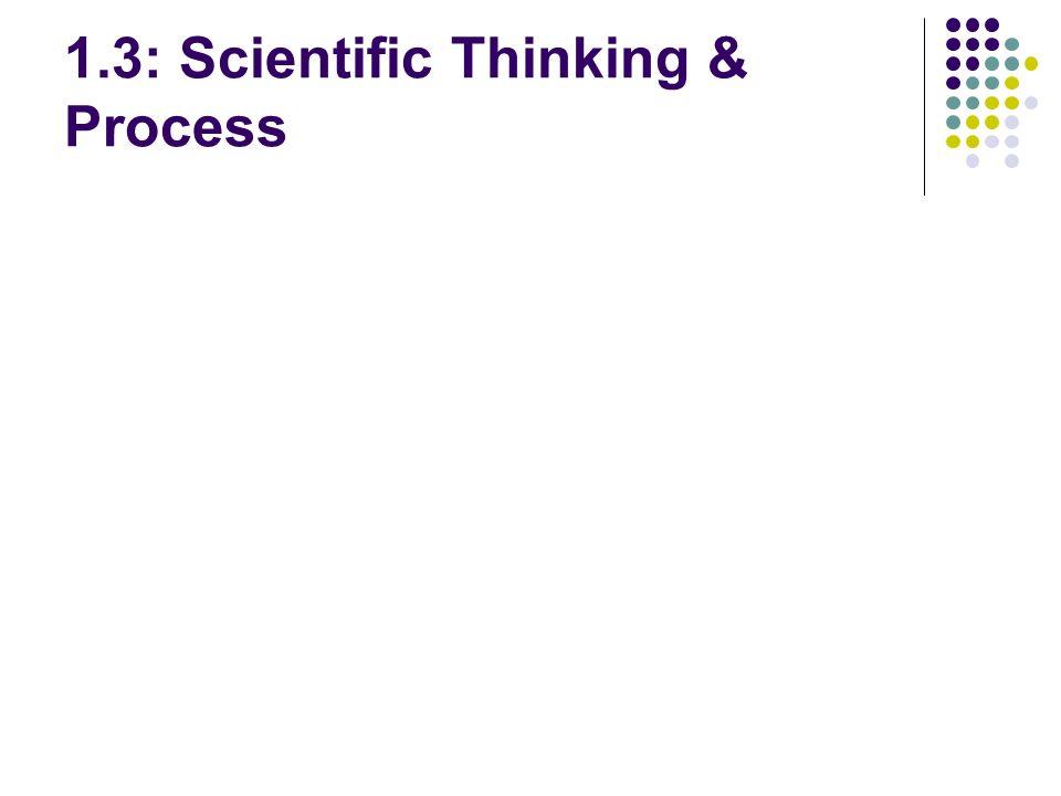 1.3: Scientific Thinking & Process
