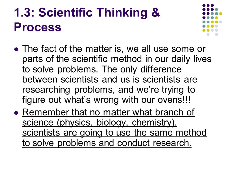 Critical thinking to solve problems in our daily life