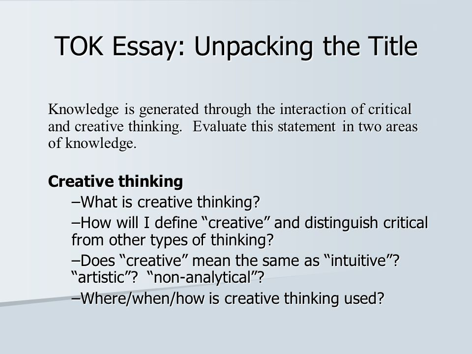 tok essay unpacking the title ppt video online  tok essay unpacking the title