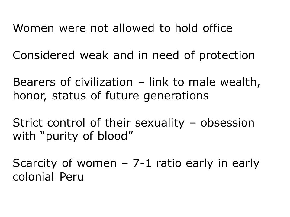 Women were not allowed to hold office
