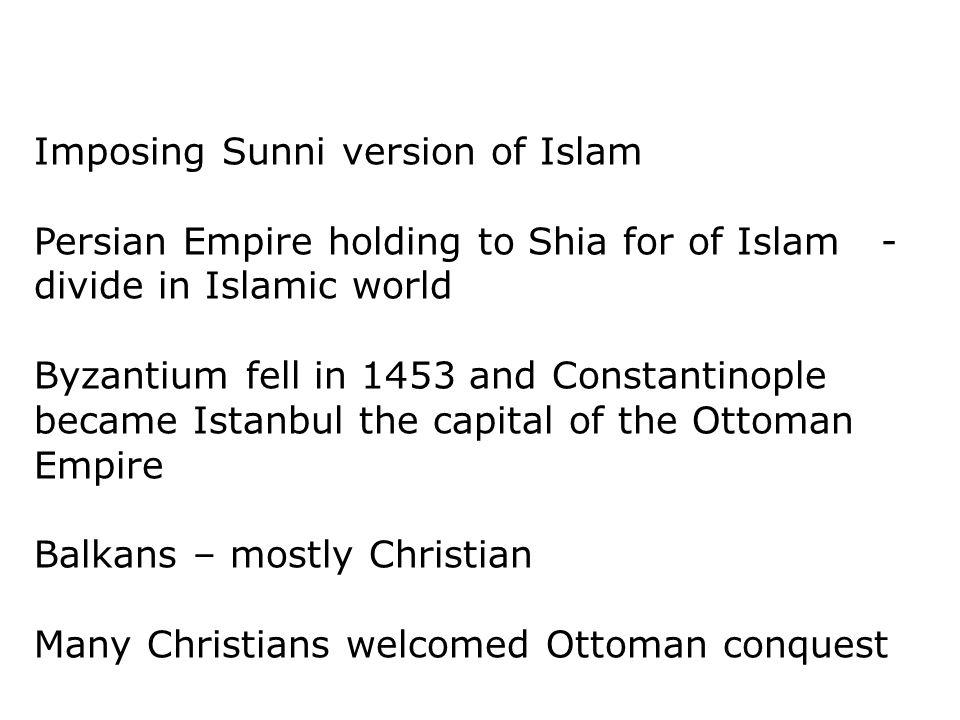 Imposing Sunni version of Islam