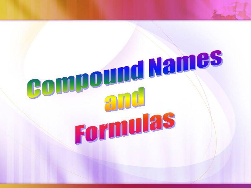 Compound Names and Formulas