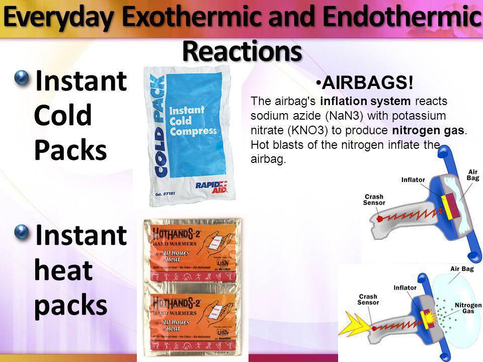 Everyday Exothermic and Endothermic Reactions
