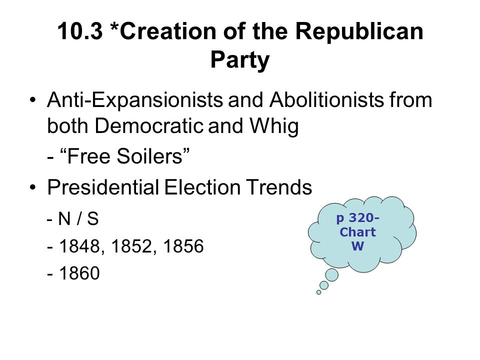 10.3 *Creation of the Republican Party