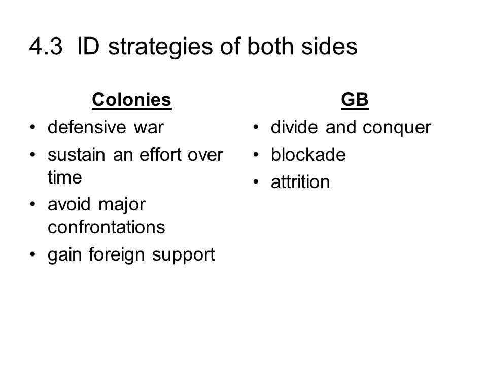 4.3 ID strategies of both sides