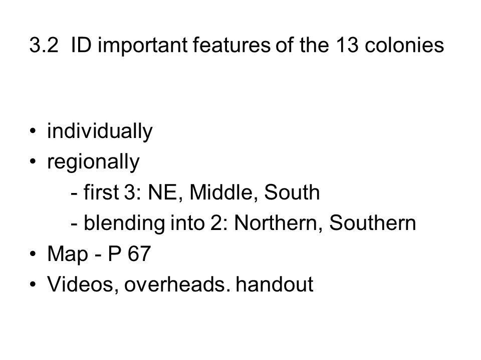 3.2 ID important features of the 13 colonies