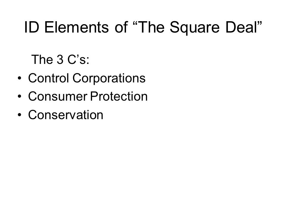 ID Elements of The Square Deal