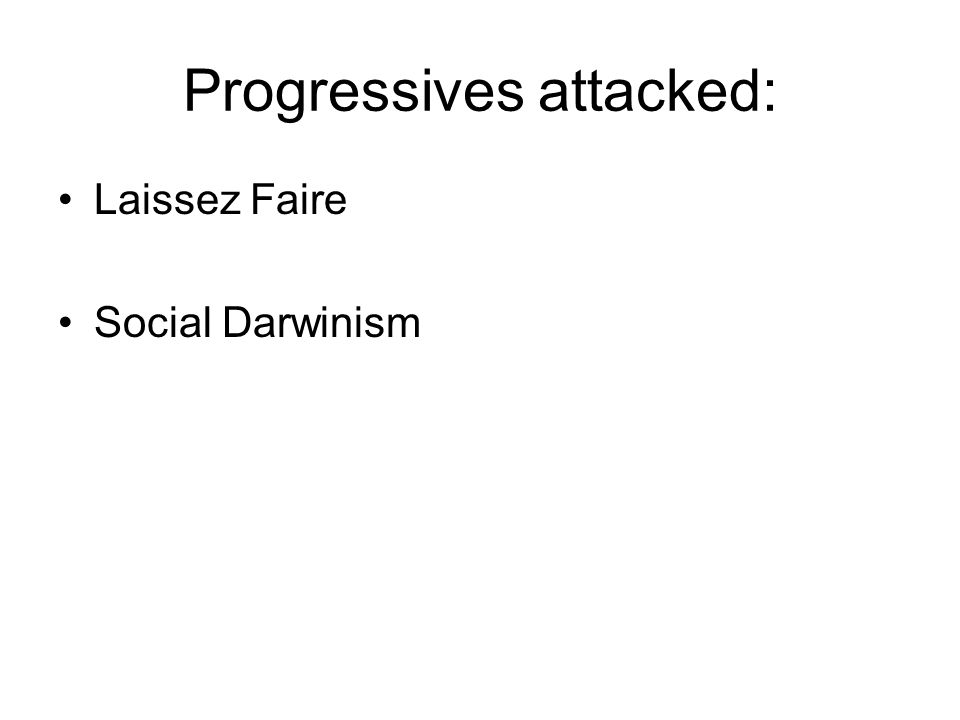 Progressives attacked: