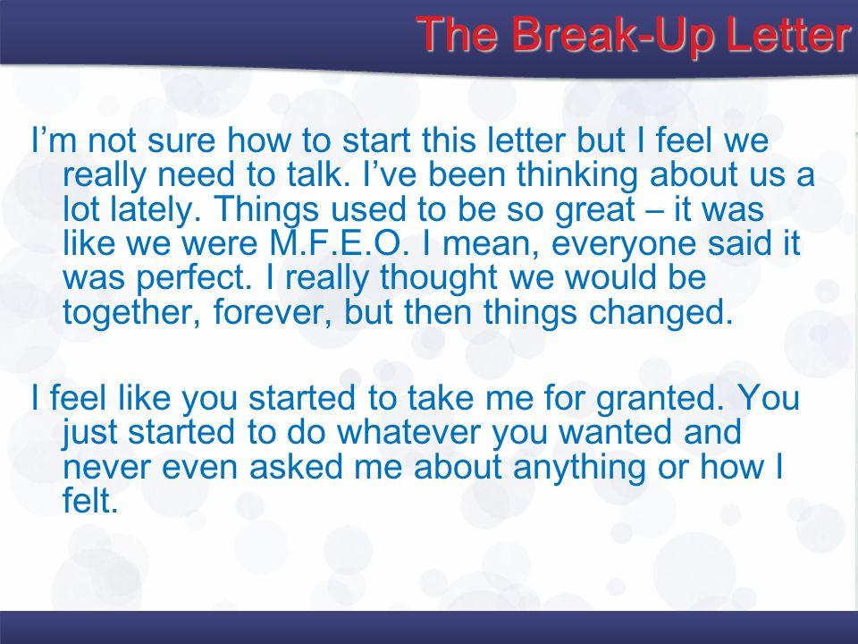 The Break-Up Letter