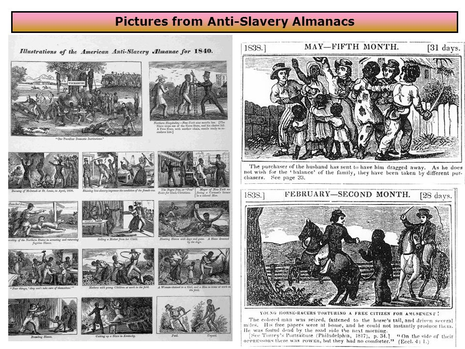 Pictures from Anti-Slavery Almanacs