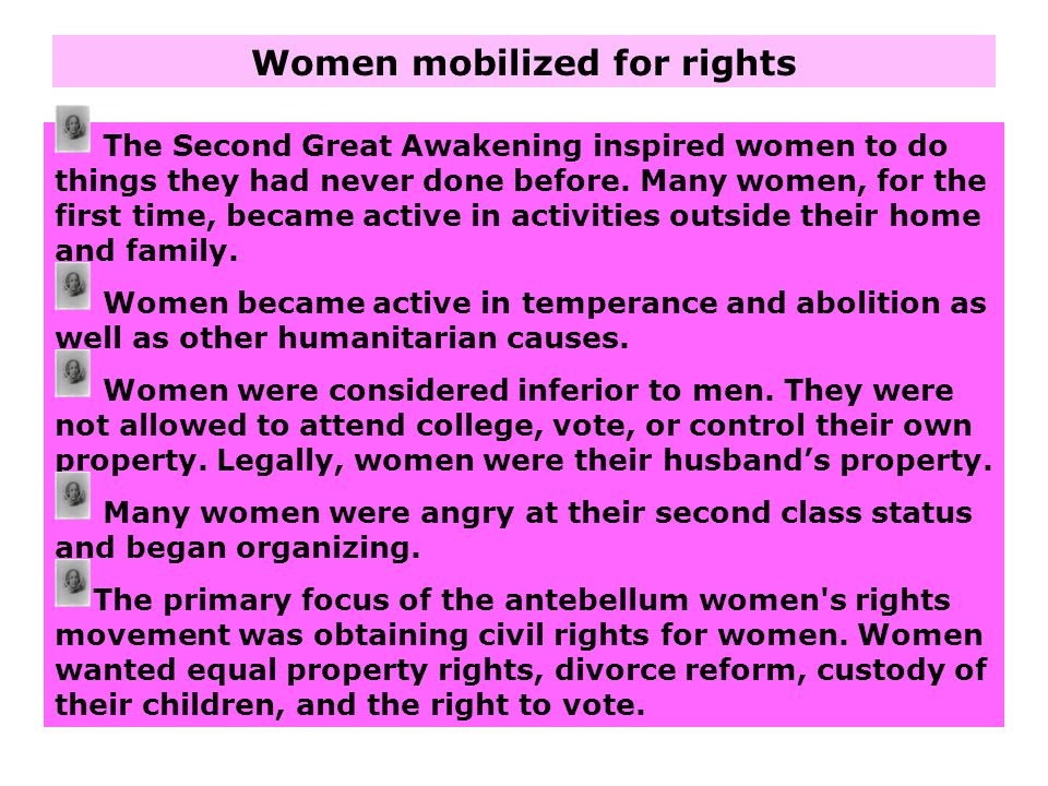Women mobilized for rights