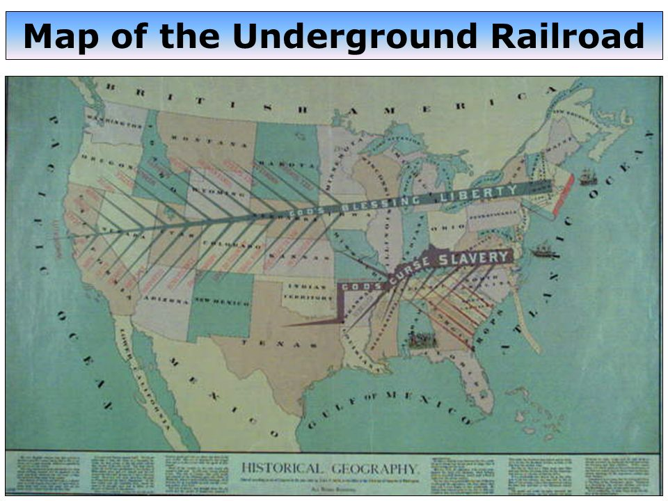 Map of the Underground Railroad