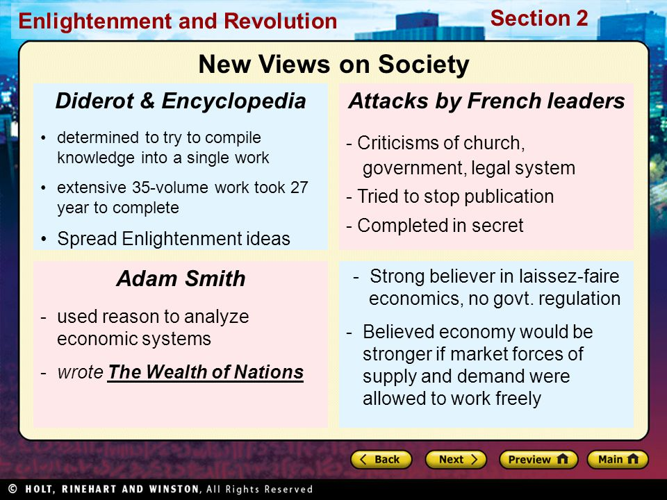 Diderot & Encyclopedia Attacks by French leaders