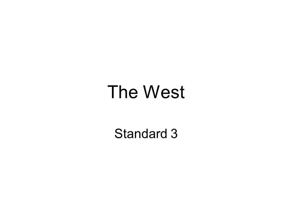The West Standard 3