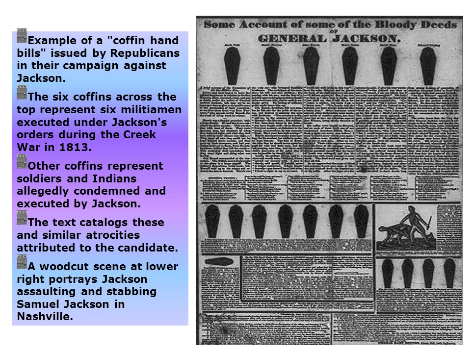 Example of a coffin hand bills issued by Republicans in their campaign against Jackson.