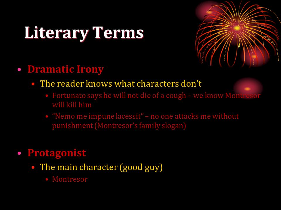 Literary Terms Dramatic Irony Protagonist