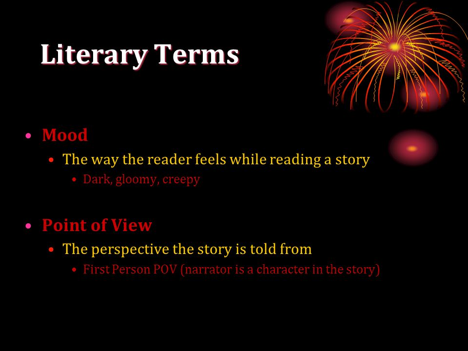 Literary Terms Mood Point of View