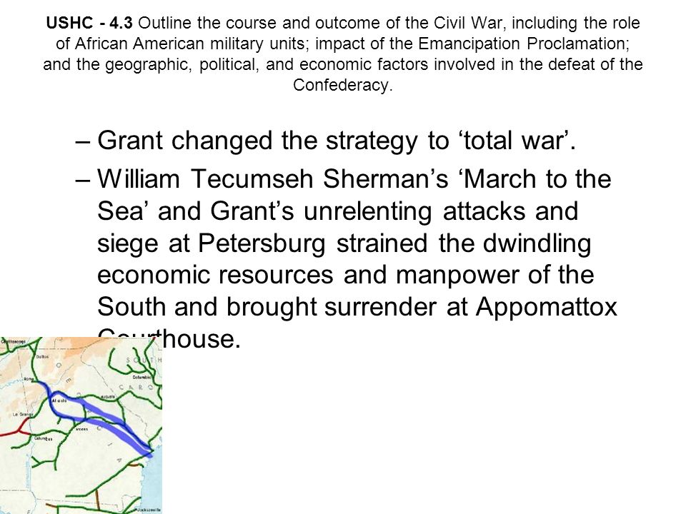 Grant changed the strategy to 'total war'.
