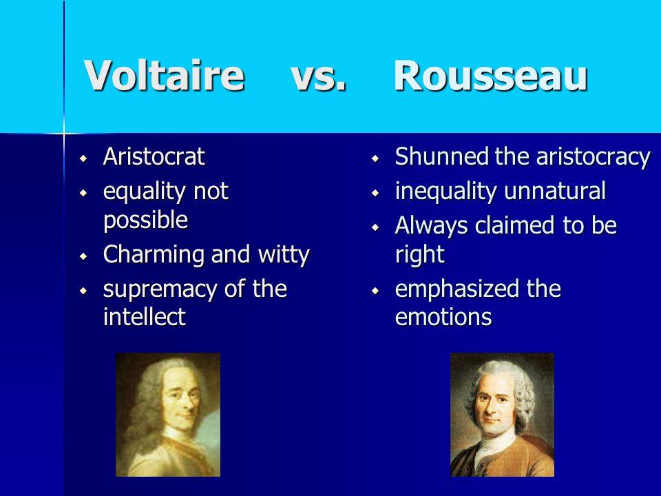 voltaire vs rousseau essay