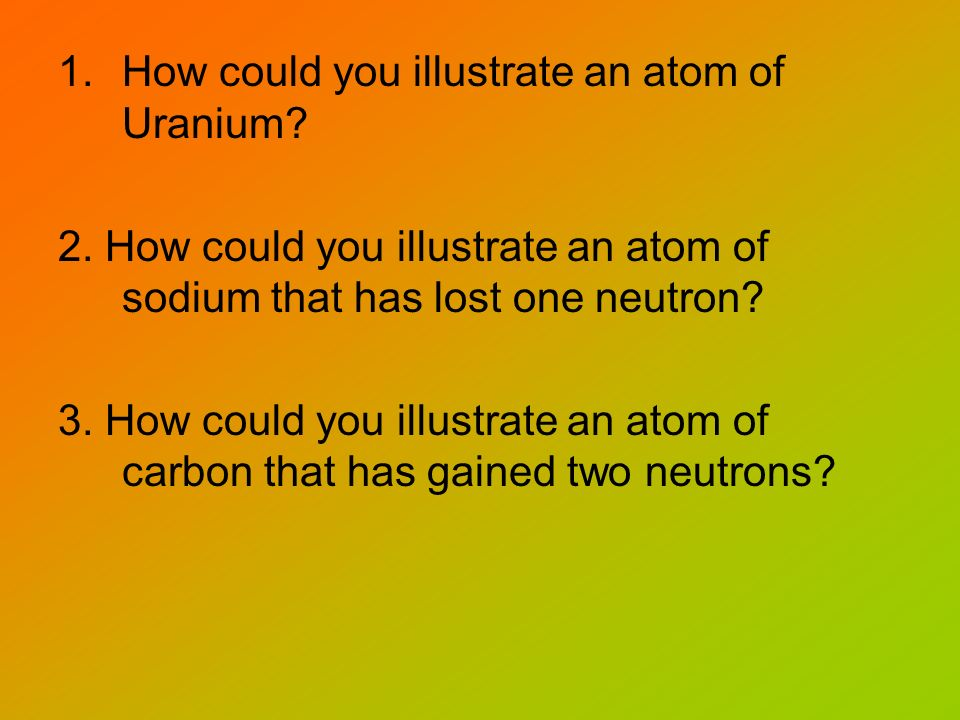 How could you illustrate an atom of Uranium