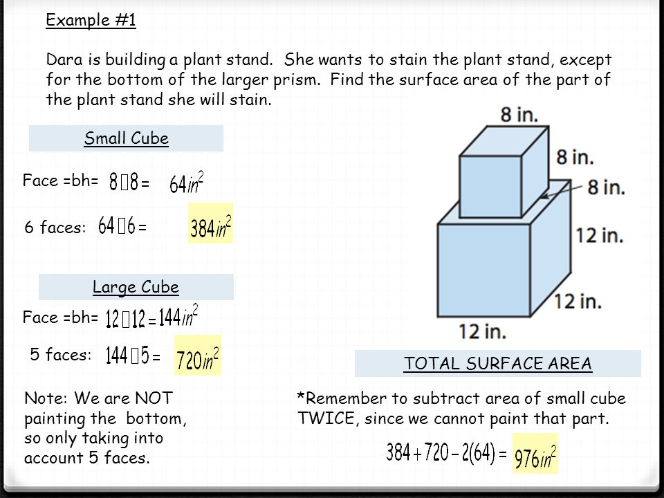 Surface area of a composite solid ppt video online download for Find a builder in your area