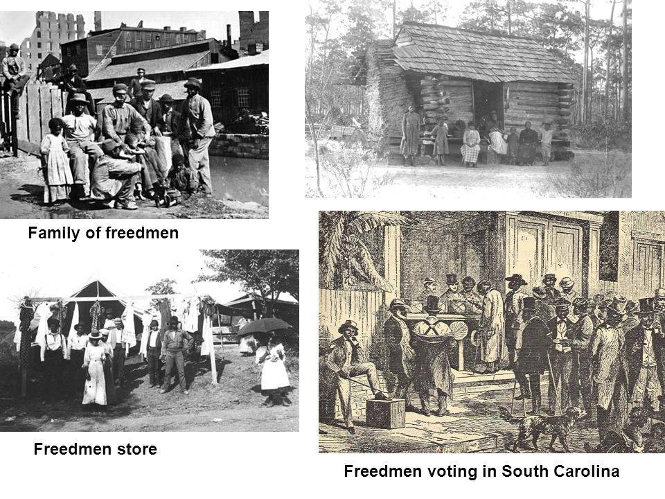 Family of freedmen Freedmen store Freedmen voting in South Carolina