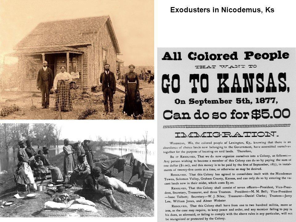 Exodusters in Nicodemus, Ks