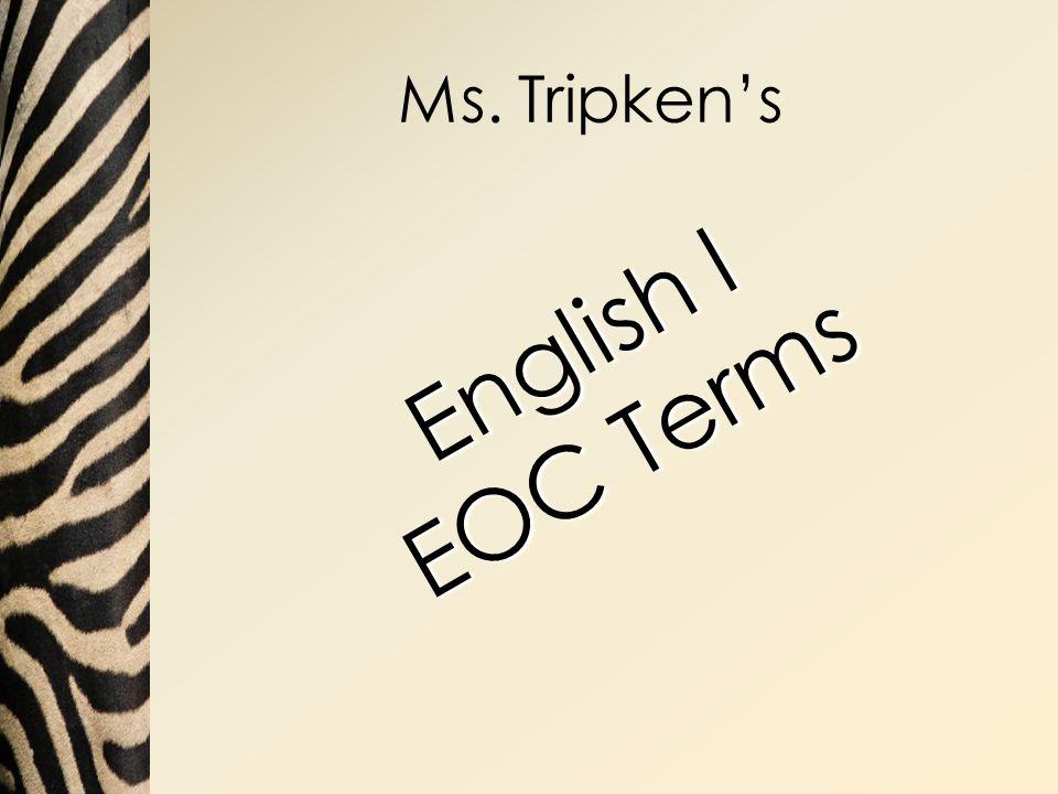 Ms. Tripken's English I EOC Terms