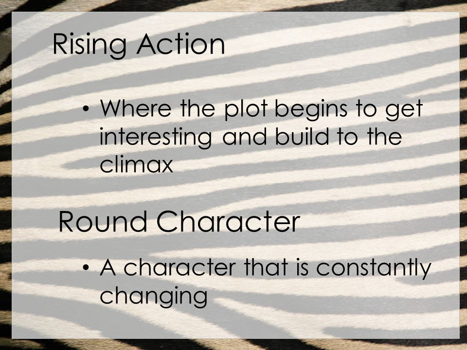 Rising Action Round Character