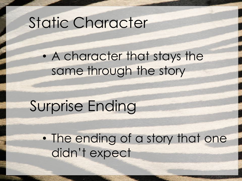 Static Character Surprise Ending