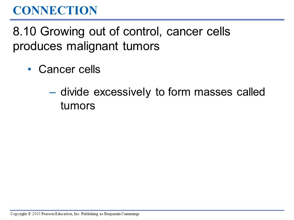8.10 Growing out of control, cancer cells produces malignant tumors