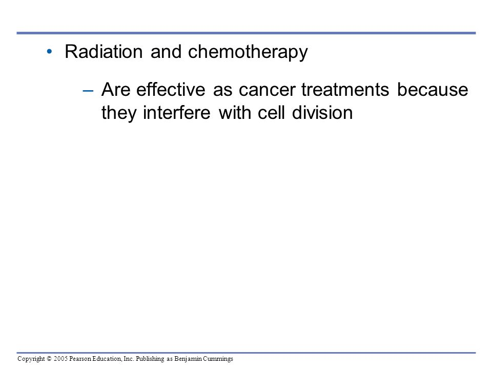Radiation and chemotherapy